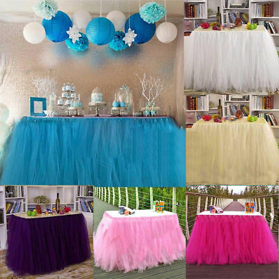 Tutu Table Skirt Tablecloth Wedding Baby Shower Birthday Princess Party Decor