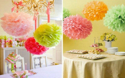 123 Tissue Paper Pom Poms  Wedding Party Baby shower Living and Store Decoration