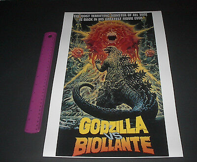 Godzilla Vs Biollante Most Terrifying Monster Of All Time Movie Poster Pin Up
