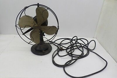 "Antique Century Brass Fan Frame S2-8"", Volts 110, Patented Dec. 29 1914 LDN-J"