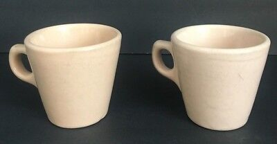 Lot Of 2 Walker China Toltec Vitrified Restaurant Ware Coffee Cups Bedford Ohio