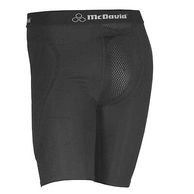 McDavid 7211 Padded Sliding Shorts & Athletic Cup Black Large