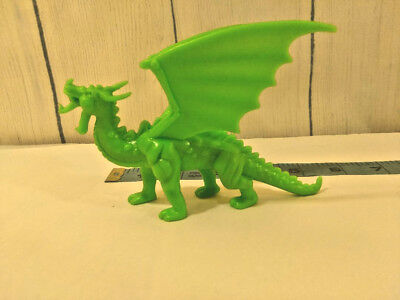 Vintage Dragonriders of the Styx DRAGON Green Plastic 1980s Dragon Riders