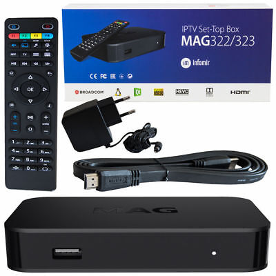 Infomir MAG 254 w1 IPTV Set Top Box with Built-In onboard integrated WiFi UK EU