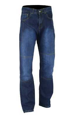Pro-rider Classic Mens Motorbike  Denim Trousers Jeans with Protective Lining