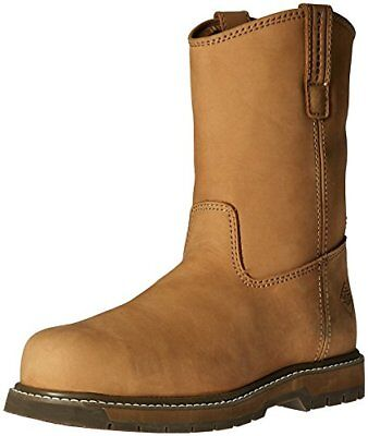 Muck Wellie Classic Composite Toe Men's Leather Work Boots, Wide Width BROWN