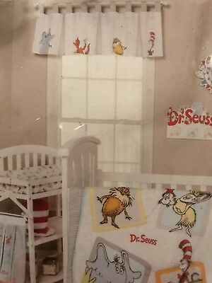 Trend Lab Dr. Seuss Friends Window Valance Baby Kids Room Decor White Red Blue