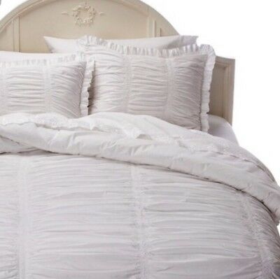 Awesome Simply Shabby Chic 3Pc Full Queen White Comforter Set Ruched Rachel Ashwell New Download Free Architecture Designs Grimeyleaguecom