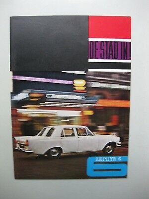 Ford Zephyr 6 brochure Prospekt text Dutch 12 pages 1964