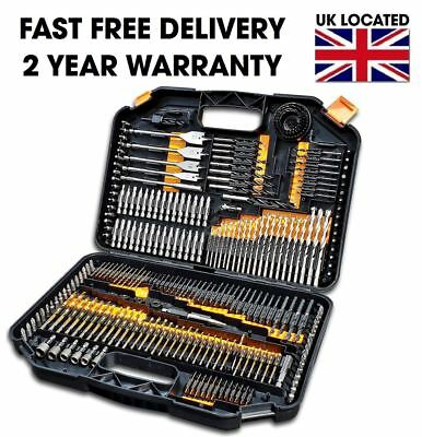 Huge 246Pcs Hss Drill Bit Set Screwdriver Bits In Storage Case Diy Wood Metal