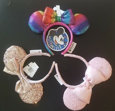 Disney Parks Rose Gold, Millenial Pink, Rainbow Gays Pride Minnie Ears Headband