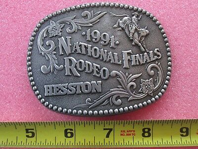 National Finals Rodeo Hesston Belt Buckle 1986 Fellows