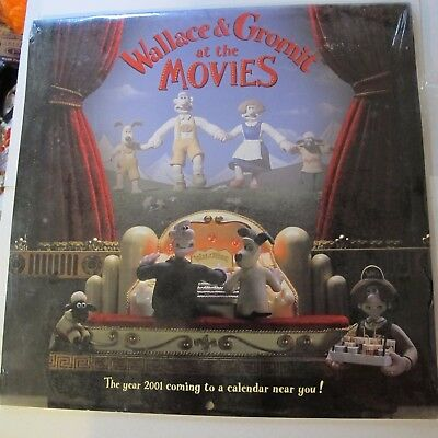 WALLACE AND GROMIT AT THE MOVIES 1999 calendar BRAND NEW still sealed AARDMAN