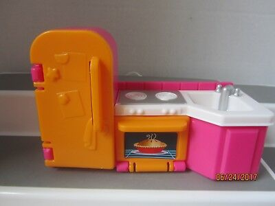 Fisher Price Loving Family My First Dollhouse Kitchen Furniture Snk Stove Fridge