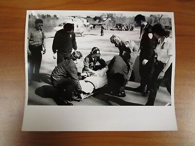 VINTAGE GLOSSY PRESS Photo Natick MA Fatal Car Accident 176 Mill
