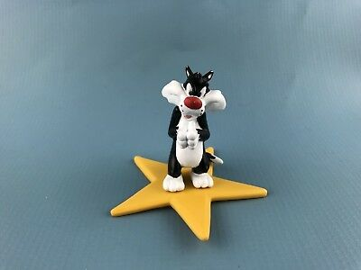 VINTAGE 1996 Sylvester on HOLLYWOOD star pvc figure by Applause 2.5 in tall
