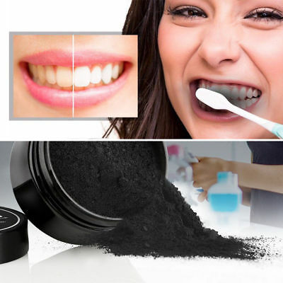 New Natural Organic Activated Charcoal Teeth Whitening Powder Bamboo Toothpaste