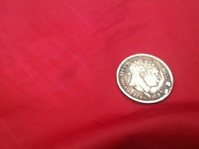 Geor lll Silver Sixpence 1816