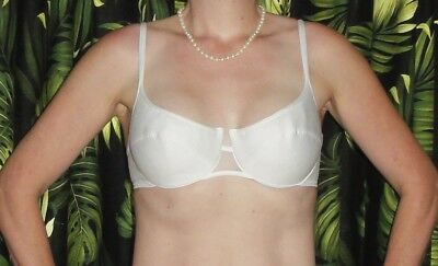 Vintage White Maidenf Push Up Bra 36 C pin up clothing girl 1950s retro cleavage