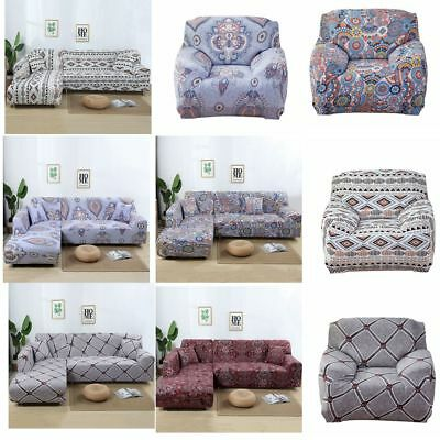 Stretch Fabic Sofa Cover Slipcover Couch Cover For 1/2/3/4 Seater and L Shape