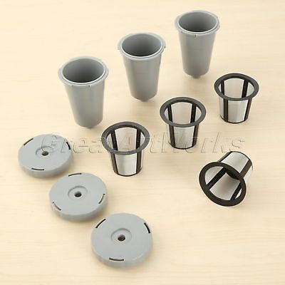 3 Sets Coffee Filters With Extra 1 Pc Mesh Filter Basket For Keurig Brewers B30