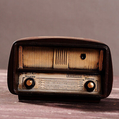 Retro Radio Vintage Home Decor Decoration Ancient Resin Crafts Home Ornaments