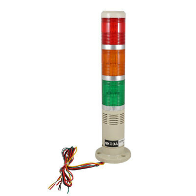 Industrial Red Yellow Green Signal Tower Lamp Warning Stack Light with Buzzer