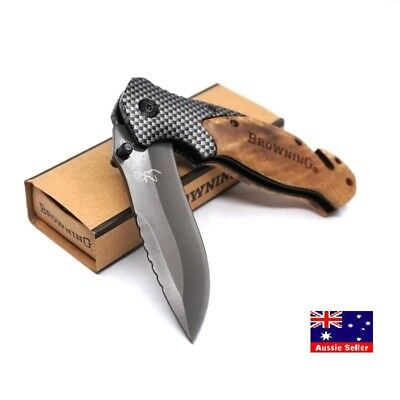 Browning X50 Knife Folding Tactical Survival Hunting Camping Knives- AUS STOCKS