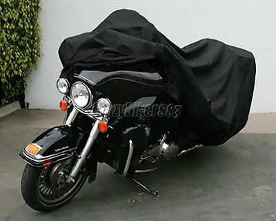 XXXL Black Waterproof Motorcycle Cover For Honda Gold Wing GL 650 1200 1500 1800