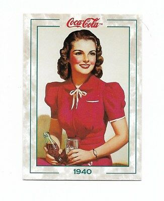 Coca Cola Collection Series 2 (1994) 1940 # 101 Lady in Red Coke Fact Trivia