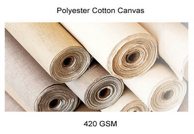 Triple Primed Polyester Cotton Canvas Roll 420gsm