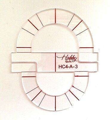 Handy Half Circle  Quilting Template  HC4-A-3  3mm