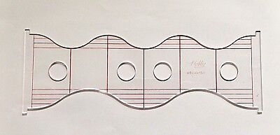 Quilting Ruler Template (Wave & Scallop)  WSC-4x13-3  3mm