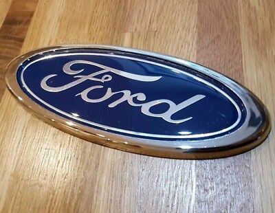 Blue Oval Grille Badge 150MM X 60MM Fits Ford Mondeo KA Fiesta New