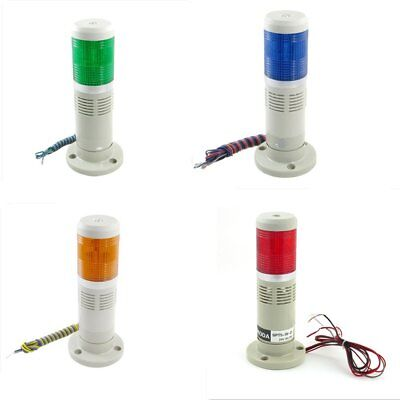 Industrial Yellow Red Green Signal Tower Warning Lamp Stack Light  Buzzer Sound