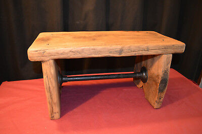 Tremendous Vintage Style Wooden Foot Stool Mini Bench Plant Stand Gmtry Best Dining Table And Chair Ideas Images Gmtryco