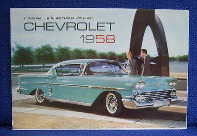 1958 CHEVROLET Bel Air Impala Nomad Sales Brochure - New Old Stock
