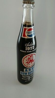 Pepsi cola 1972 ASU sun devils fiesta bowl bottle unopened