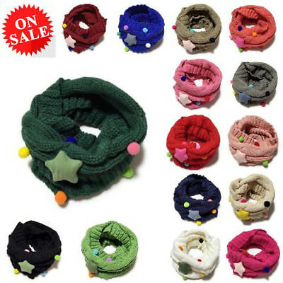 Baby Scarf Winter Warm Fashionable Wool Knitted Thick Collar Infinity Muffler