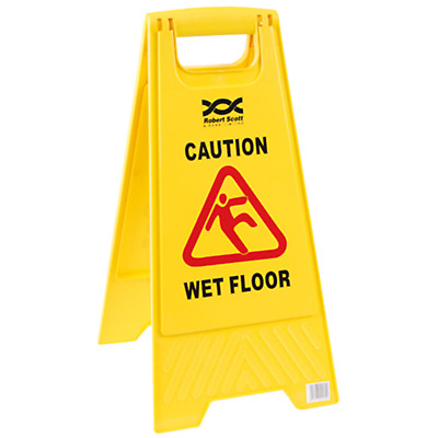 20L Litre Commercial Mop Bucket & WET FLOOR WARNING SIGN SET PROFESSIONAL