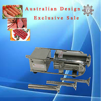 New Stainless Steel Meat Sausage Filler Stuffer Salami Maker Horizontal 2L