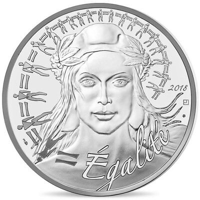 2018 France 20 Euro Silver Uncirculated BU Coin Marianne Equality Egalité
