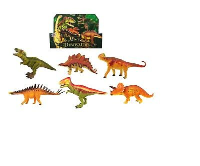 5 Piece Jumbo Dinosaur Playset Toy Animals Action Figures Set T Rex Triceratops