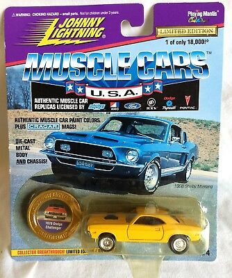 1970 Dodge Challenger Yellow Johnny Lightning Muscle Cars USA Free Shipping New