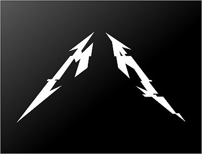 Metallica Hardwired M and A Letters Vinyl Decal Car Window Laptop Sticker