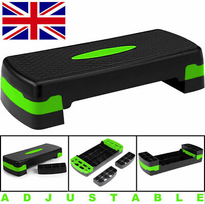 Adjustable Aerobic Step Exercise Stepper Cardio Yoga Workout Training Gym Board