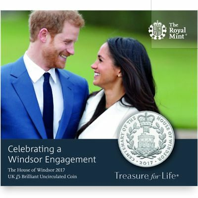 2017 United Kingdom £5 BU Coin Royal Engagement of Prince Harry & Meghan Markle