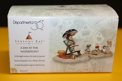 Dept 56 Seasons Bay 'A Day at The Waterfront' Figurines with Box # 53326 - New