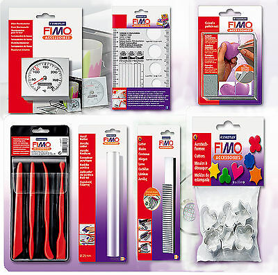 Fimo Tools Accessories For Soft, Effect, Sculpey Premo Clays, Deco Gel Varnish