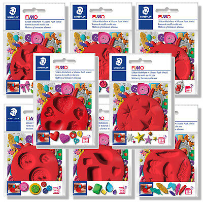 Fimo Push Moulds 8 Different Designs For Scrapbooking & Modelling Moulding Tools